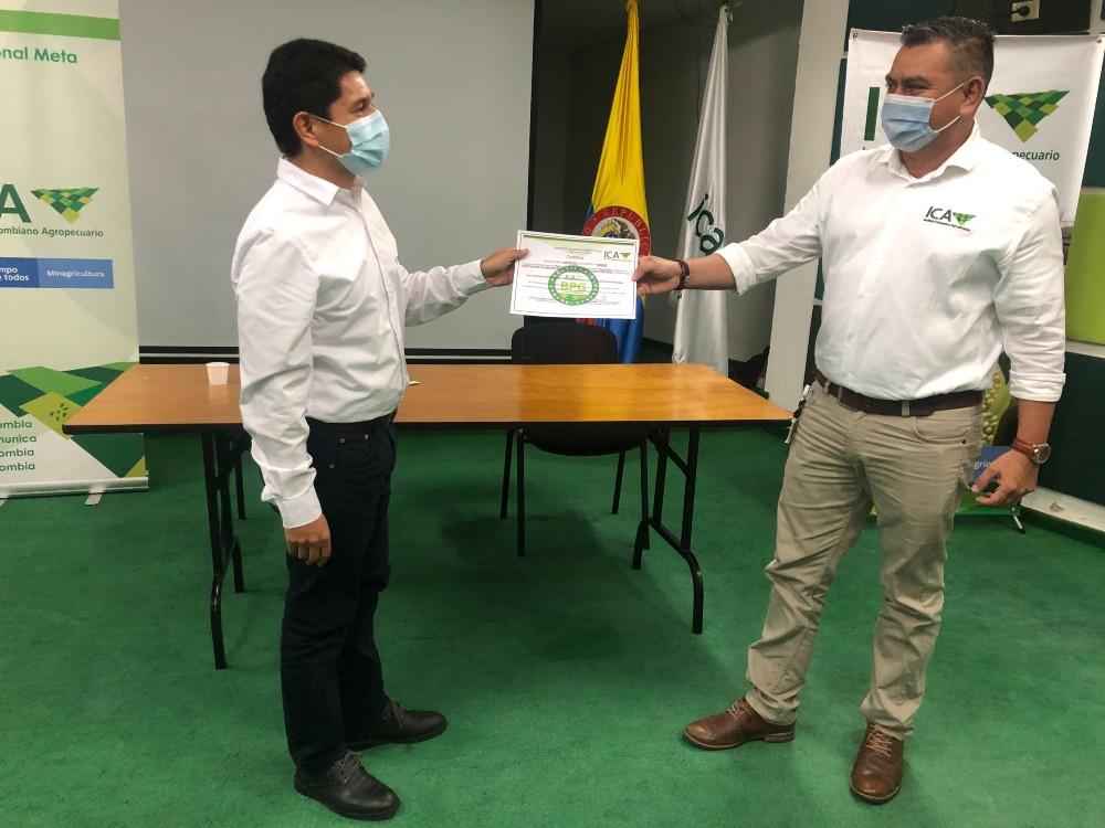 El ICA otorga el certificado de buenas prácticas en producción porcina al CI La Libertad, por tres años
