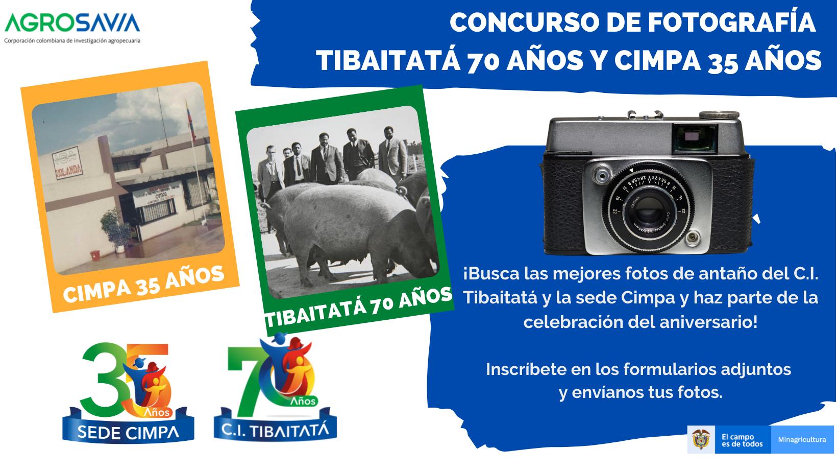 Arrancan los concursos de fotografía: TIBAITATÁ 70 años y CIMPA 35 años