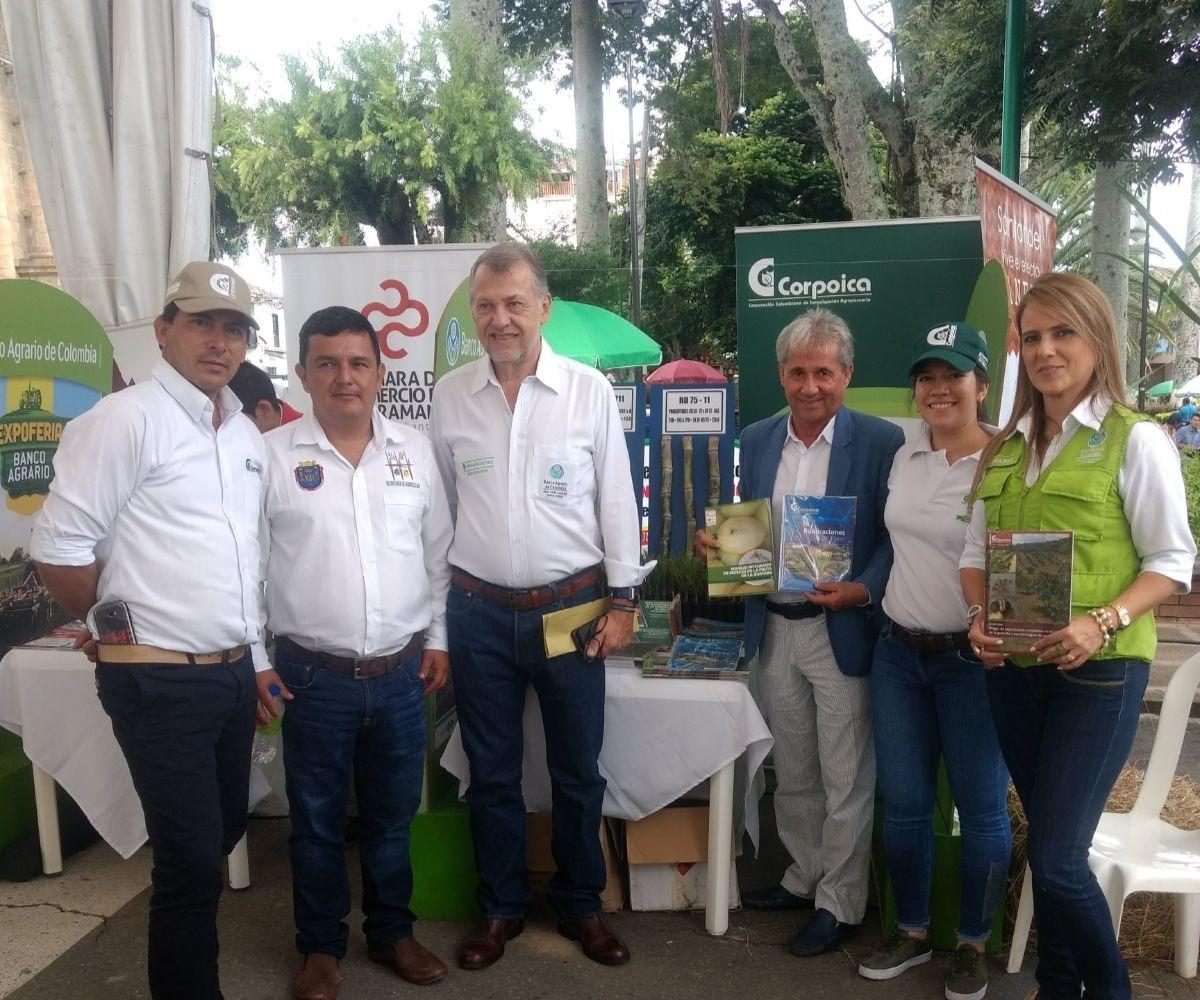AGROSAVIA sede Cimpa participó en la expoferia Banco Agrario en Santander