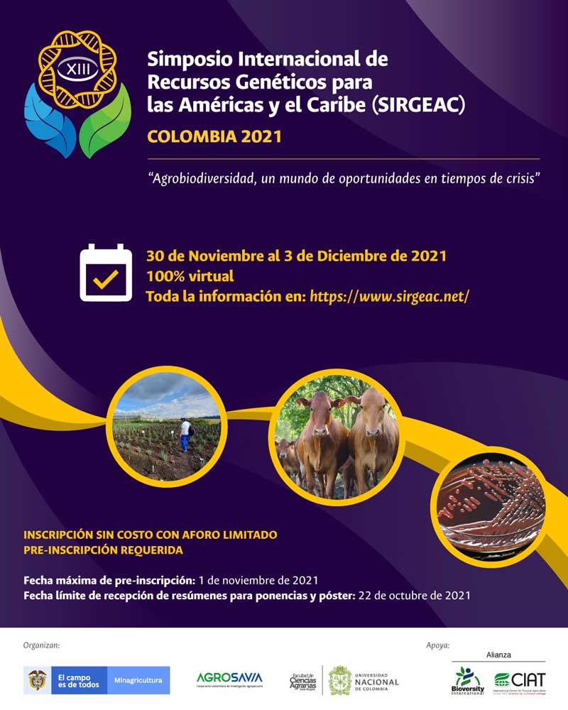 Simposio Internacional de recursos genéticos para las Américas y el Caribe por primera vez en Colombia
