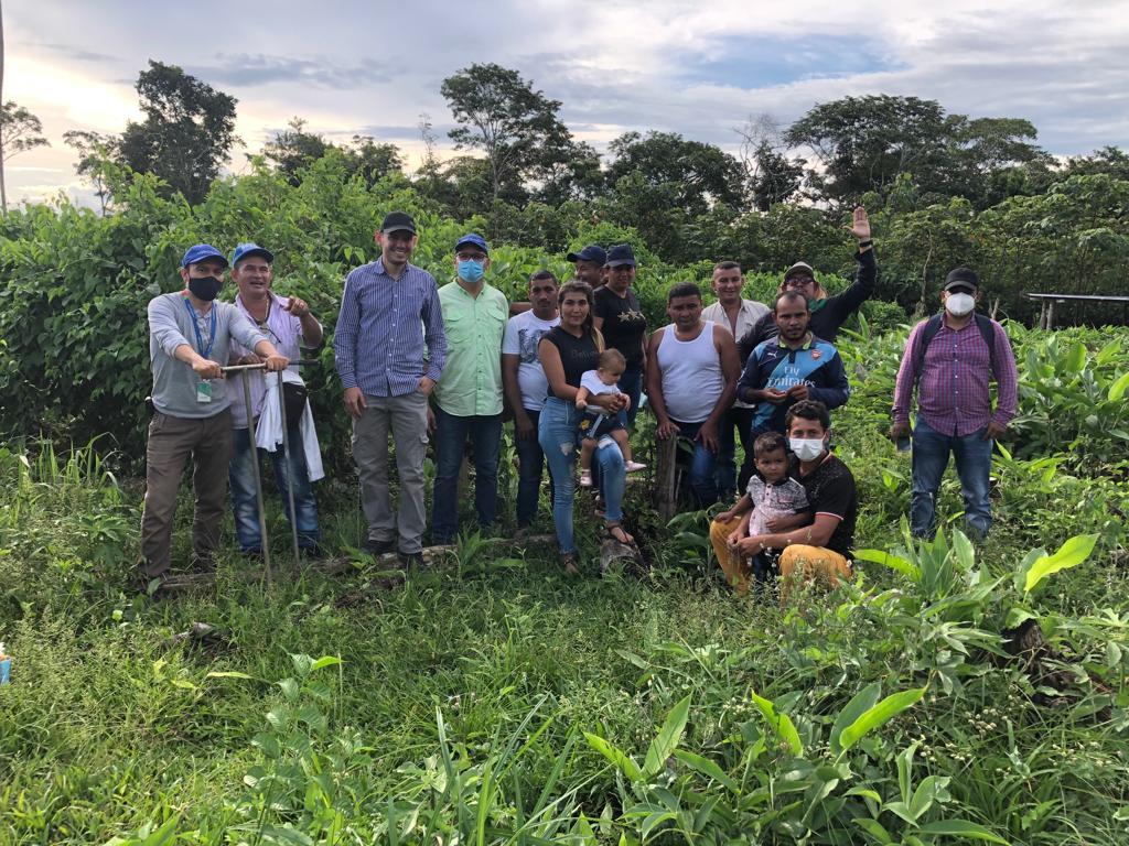 En Vista Hermosa, Meta, AGROSAVIA realizó el día de campo sobre sacha inchi en aspectos de suelos y manejo agronómico, evento organizado por la ARN