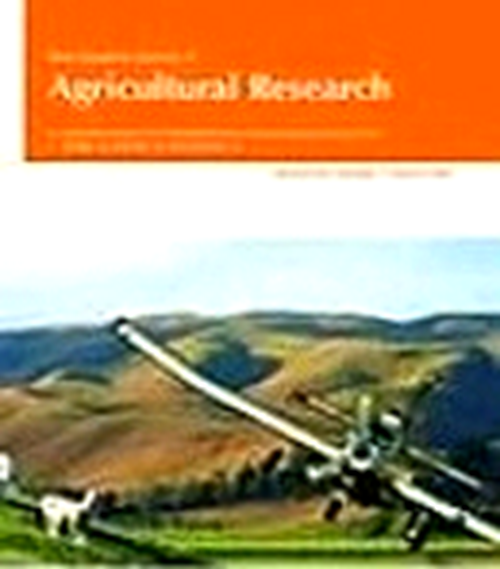 New Zealand Journal of Agricultural Research( 1958 - 2014). Revista en Suscripción - AGROSAVIA
