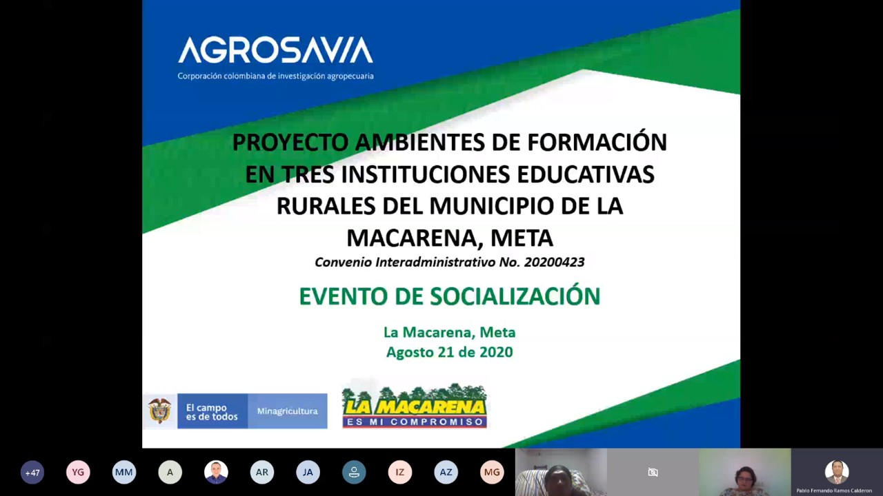 AGROSAVIA, Minagricultura y Alcaldía de la Macarena lideran proyecto que contribuye en la protección y disminución de la deforestación en la Amazonía colombiana