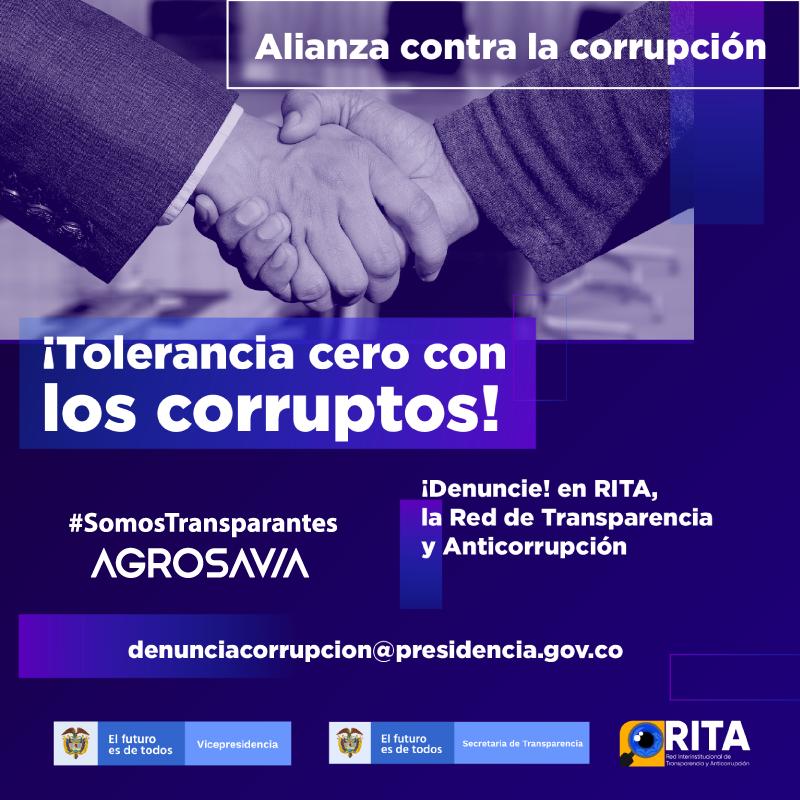 AGROSAVIA se une a la Red Interinstitucional de Transparencia y Anticorrupción – RITA