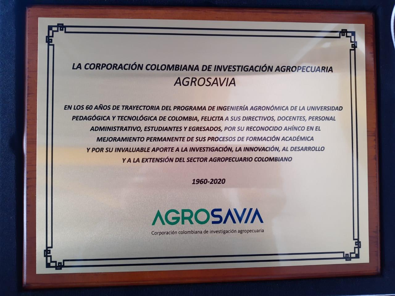 AGROSAVIA se suma a la celebración de los 60 años del programa de Ingeniería Agronómica de la UPTC